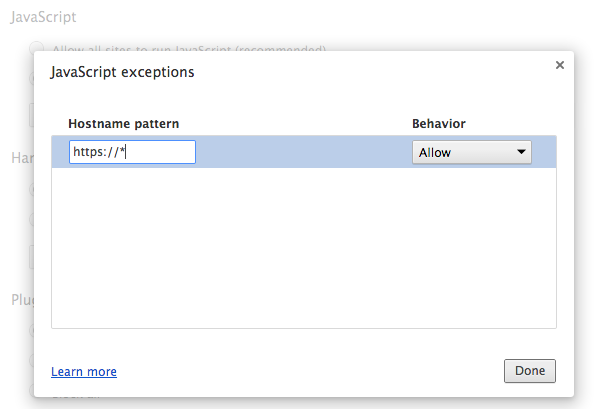 how to change chrome security settings